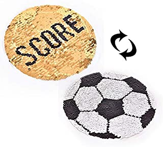 Patches - Football Reversible Change Color Sequins Sew On Patches Patch Applique Bag Clothing Coat Sweater - Reverse Nameset Patch League Fabric Sweater Premier Coat Number Sweatshirt Pan