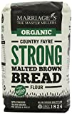 Marriages Organic Country Fayre Strong Malted Brown Bread Flour 1 kg