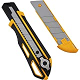Viwanda - Cuchillo Retractable ViCUT Cutter Amarillo de Servicio Pesado de 25mm con...