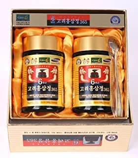 HongSamJeong 240g(8.5oz) X 2ea, Korean 6years Root Red Ginseng Gold Extract, Saponin, Panax by Hong Sam Jeong