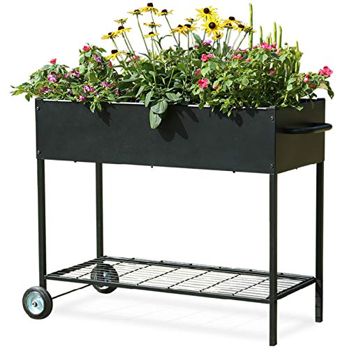 MIXC Raised Garden Boxes, Metal Elevated Outdoor Planter Box for Backyard