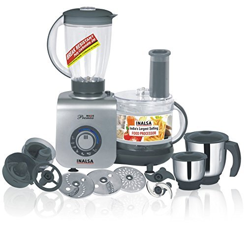 Inalsa Maxie Premia 800-Watt Food Processor with 3...