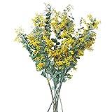 luukiy Flor de Simulación, Flores Secado Flower Bouquet, Flores De Batón Pequeño Viento Fresco Flor Argumento Boda Precios De La Flor De La Flor Adorno De Decoración del Hogar