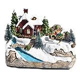 ZHIXX MALL Christams Regalo Musica Natale Villaggio Casa Natale Casa Neve Villlage Simpatico Regali FAI DA TE per Bambini e Ragazze Amiche