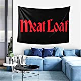 Meat Loaf Band Logo Home Tapestry 60x40inch Hip-Hop Dorm Decor Wall Hanging Wall Art Home Decor Bedroom Living Room Tapestry Fashion Tapestry Durable Picnic Blanketart
