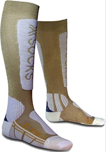 X-Socks Funktionssocken Ski Metal Lady, Gold/White, 41/42