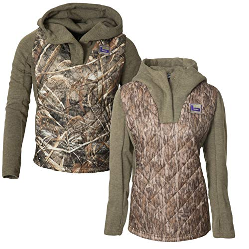 Banded Gear Womens Kinetic Hybrid Camo Hoodie (Realtree Max-5 Camo, Large)