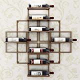 AERVEAL 8 Botellas Europeas Y Simple Montaje de Vino Montaje de Marca Creativo para la Decuración de Vino de Decuración de Vino Rojo, Color,Marrón