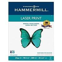 Hammermill レーザー印刷用紙 24ポンド 98GE 8-1/2インチx11インチ 500枚/RM、WE (104604)