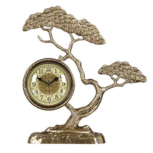 WYZ op Chinese dag, zuiver koper, decoratief, tafelklok, wandklok, voor woonkamer, tafel, wandklok, decoratie, kwarts, goudkleurig