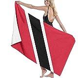 Yocmre Toalla de baño Toalla de Playa con Bandera de Trinidad y Tobago para baño Viaje Playa Nadar