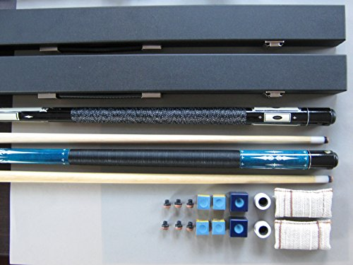 Famousworld Billard-Partnerangebot Ambassador DE Luxe Blue&Black 2 Koffer und Zubehör