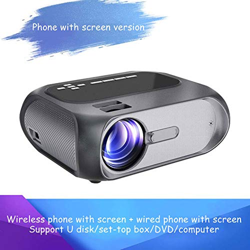 Projector Supports 1080P Full HD, 5000 Lux Mini Video Projector Compatible with Smartphone, Tablet, TV Stick, Game Player, Home Theater,C