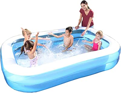 nobranded Inflatable Swimming Pool 2 Floors Above Ground Inflatable Swimming Pool Adult Children Baby Family Interactive Water Park Lawn Garden Backyard Outdoor Swimming Pool (2.6M-2Layers)