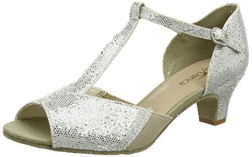 So Danca Damen Bl33 Tanzschuhe-Standard & Latein, Silber (Silver), 41 EU (10.5 US)