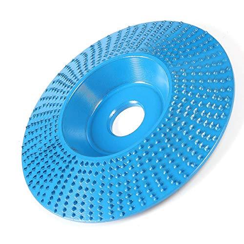 XUQIANG 94mm ángulo tungsteno ángulo de carburo de ángulo de Pulido 16 mm Bore de Madera Lijado de Lija Discos de Talla Herramientas manuales de carpintería de Bricolaje (Color : Blue)