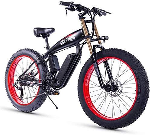 Bici electrica, 26 pulgadas bicicleta eléctrica for el adulto Fat Tire 350W48V15Ah...