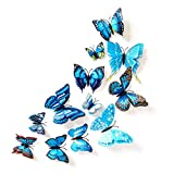 JSJJAQW Imán de nevera doble mariposa mariposa brillante Set (color: 2)
