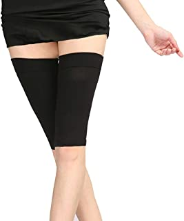 Thigh Compression Sleeve Slimming Thigh Support Shaperd Weight Loss Elastic Warp Upper Leg Brace Fit Sleeves for Women (Black)