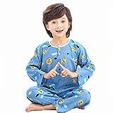 LASIMAO Pijamas de algodón Set para niños, Conjunto de Ropa de Dormir de Dibujos Animados Lindo, Ropa de Dormir en casa 2 PCS Boys Girl Sleepwear Set Summer Pijamas Set,Q,150CM