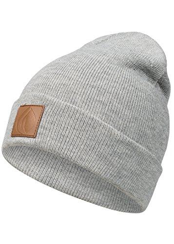 Occulto Leatherpatch Winter Mütze Beanie (Grey)