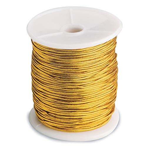 Metallic Gold Stretch Cord (100 Yard)