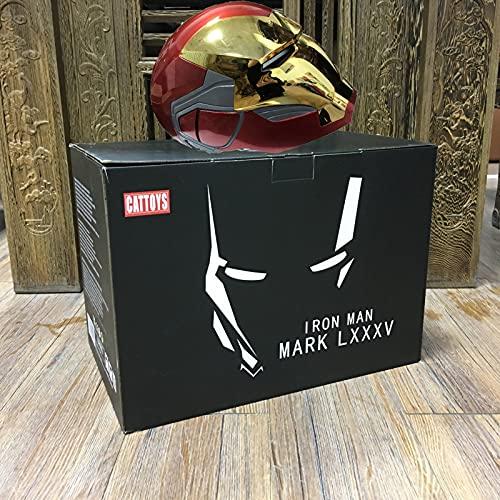 WXHJM 1: 1 Marvel Casco Iron Man,Usable Eléctrico de Apertura y Cierre Máscaras Faciales Completas con Sensor Táctil y El Saludo de Voz,para Halloween Prop Regalo Cumpleaños