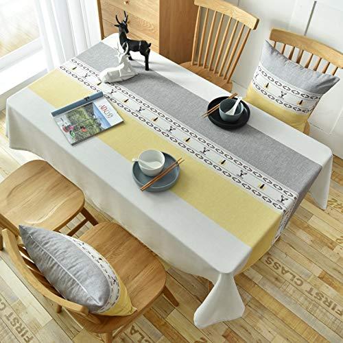 PhantasyIsland.com Home Direct Mantel Antimanchas, Resistente a Líquidos130*250cm