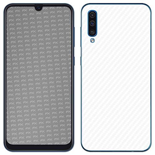 Preisvergleich Produktbild atFolix Skin kompatibel mit Samsung Galaxy A50 (2019),  Designfolie Sticker (FX-Carbon-Alpine),  Carbon-Struktur / Carbon-Folie