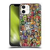 Head Case Designs Ufficiale Chris Dyer Buono Vs Cattivo Pop Art Cover in Morbido Gel Compatibile con Apple iPhone 12 Mini