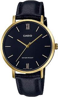 Casio Black Leather Women Watch LTP-VT01GL-1BUDF