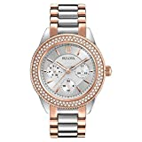 Bulova Women's Analogue Classic Quartz Watch with Stainless Steel Strap 98N100