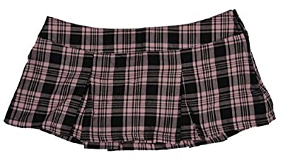 Folter TEACHERS PET Pleated Plaid MICRO MINI SKIRT- In Choice of Colors