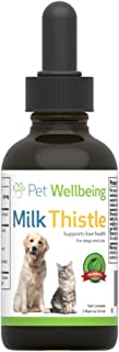 Pet Wellbeing - Milk Thistle for Dogs - Essential Detoxification Support for Canines with Liver Dysfunction