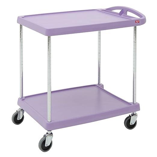 3 Shelf 35.38 X 31.44 X 18.31-Inch InterMetro Industries MY1627-34G Mycart Series Gray Polymer Utiltiy Cart