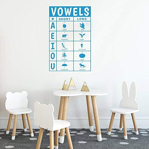 Tableau de voyelles Decal de vinyle long et court avec des icones Decal Vinyl kers for Preschool Classroom Teachers C