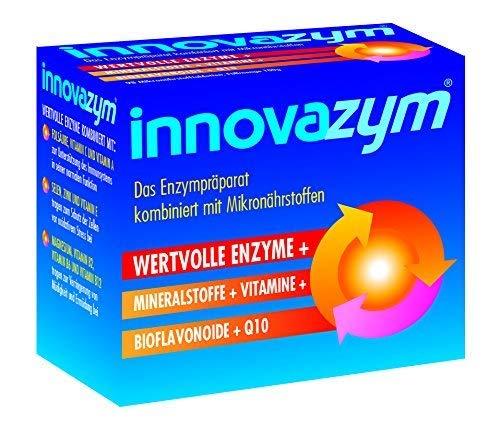 innovazym® Multi-Enzym-Komplex| Entwickelt von der Medizinischen Enzymforschungsgesellschaft| Lysozym+Papain+Bromelain+Bioflavonoide+Q10+Vitamine | 98 Tabletten hochdosiert
