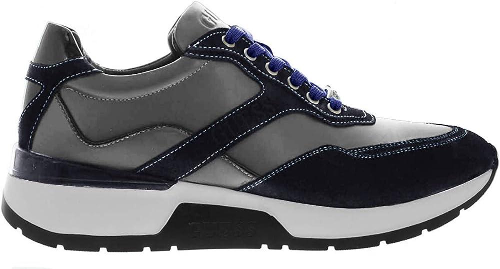Guess, sneakers in pelle con inserti in camoscio per uomo FM8MAR LEA12