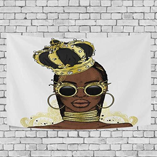 Tapiz para colgar en la pared, hermosa mujer elegante en The Crown Art Tapiz para colgar en la pared para sala de estar, dormitorio, decoración del hogar, 90 x 60 pulgadas