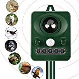 Cat Repellent Animal Repeller Solar Animal Repellent Scarer Ultrasonic Solar Powered Cat R...