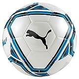 PUMA teamFINAL 21.5 Hybrid Ball Balón de Fútbol, Unisex Adulto, White-Electric Blue Lemonade-Peacoat, 5