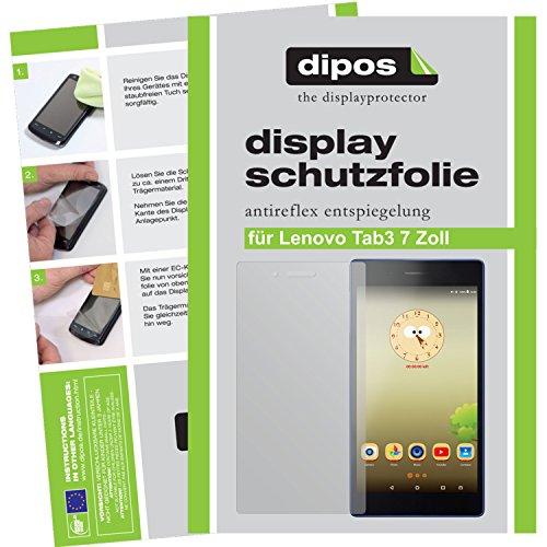 dipos I 2X Schutzfolie matt kompatibel mit Lenovo Tab3 7 Zoll Folie Bildschirmschutzfolie