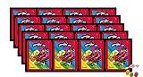 Panini Miraculous Ladybug Super Heroez Team Sticker – (20 bolsas de pegatinas) cada uno con 4 pegatinas + 1 tarjeta adhesiva & tarjeta Trading además 1 x surtido de frutas Sticker-und-co