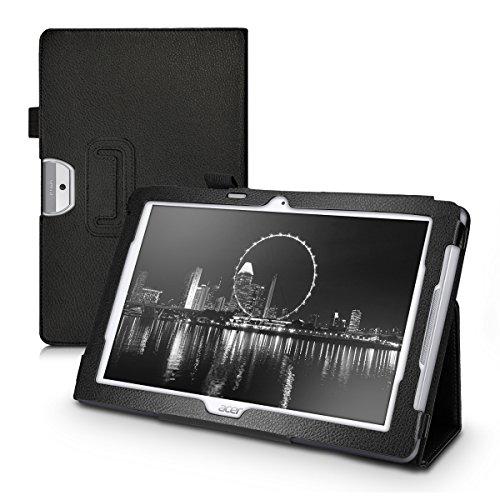 kwmobile Funda Compatible con Acer Iconia One 10 (B3-A30) - Case de Cuero sintético para Tablet con Cierre magnético y Soporte