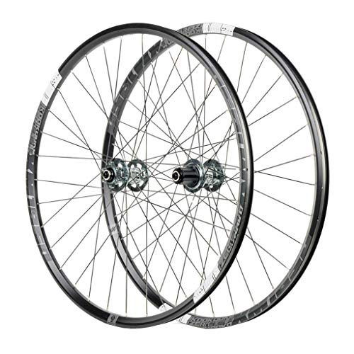 26' MTB Bike WheelSet, Double Wall Aluminum Alloy Disc Brake Quick Release Hybrid/Mountain Bearings Hub 8/9/10/11 Speed (Color : C, Size : 27.5 inch)