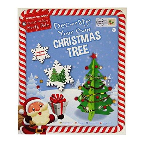 Grafix Enfants Construire et Décorer Votre Propre Arbre de Noël - Taille 28cm x 19.6cm