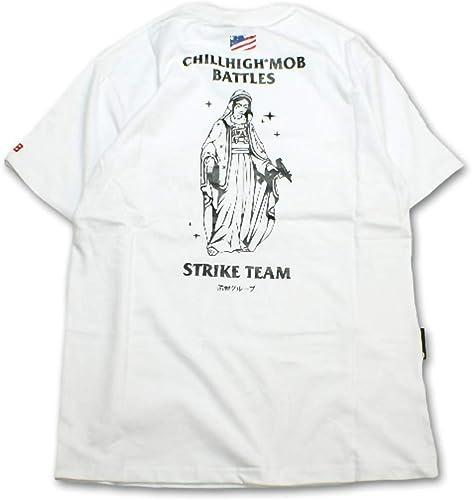 ORPERSIST Virgin Mary T-Shirt pour Hommes Décontracté Ras du Cou et Manches Courtes,blanc,L