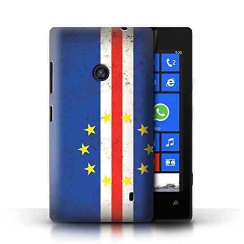 Stuff4 Custodia/Cover/Caso/Cassa Rigide/Prottetiva stampata con il disegno America Africano per Nokia Lumia 520 - Capo Verde