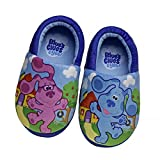 Nickelodeon Boys' Blue's Clues Slippers - Plush Slip On Moccasins, Size 7-8, Blue's Clues