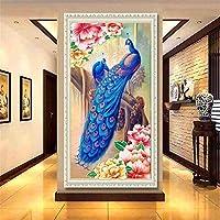 5DDIYダイヤモンド絵画写真DIYダイヤモンド絵画手作りリビングルーム壁の装飾接着剤の写真家の装飾80 * 160cm
